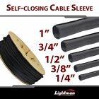 """1/4""""-1"""" 10FT Expandable Braided Cable Sleeving Wrap Split Loom Sleeve Wire Lots"""