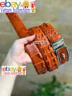 NO JOINTED Belt - Genuine Crocodile Skin Leather -  Handmade