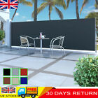 Garden Terrace Side Awning Screen Retractable Automatic Patio Privacy Roll-back