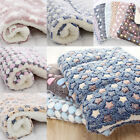 Pet Plush Soft Thicken Blanket Dog Cat Puppy Mat Warm Sleeping Bed Cushion Rug