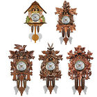 Antique Wooden Cuckoo Wall Alarm Clock Bird Time Bell Swing Watch Home Decor US