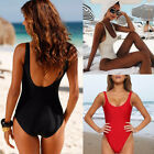 Women's Backless One Piece Monokini Padded Bra Bikini Swimsuit Swimwear Bathing $7.35 USD on eBay