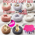 Warm Pet Dog Cat Kennel Calming Sleeping Bed Nest Soft Plush Blanket Comfortable