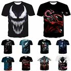 Funny 3D print Casual Men T-Shirt Women Venom Skull Fashion Short Sleeve Tops $8.99 USD on eBay