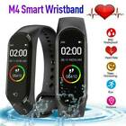 Smart Band Watch Bracelet Wristband Blood Pressure Heart Rate Tracker M4 US