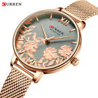 CURREN Watch Women Quartz Luxury Fashion Lady Gift Leather and Steel Strap image