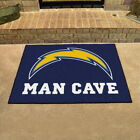 "Los Angeles Chargers Man Cave Area Rug Choose 19""x 30"" 34""x 43"" 5'x6' 5'x8' $104.89 USD on eBay"