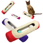 LN_ QA_ PET CAT KITTEN TOY ROLLING SISAL SCRATCHING POST 3 TRAPPED BALL TRAIN