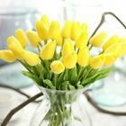 Artificial Tulips Fake Flower Latex Real Touch Bridal Wedding Bouquet Home Decor