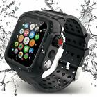 Waterproof Case For Apple iWatch Series 3 4 5 42mm 38mm 44mm &Premium Soft BandS image