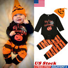 Newest Halloween Newborn Baby Boys Girl Romper Jumpsuit Pants Clothes Outfits US