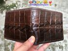 Genuine DOUBLE SIDES Crocodile Wallets Skin/Leather - Handmade Billfold Men's