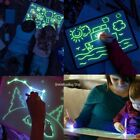 Fluorescent Light Writing Pad Kids Child Drawing Painting Board Educational Toy