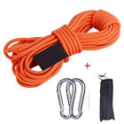 HOT Climbing Rope Outdoor Survival Fire Escape Safety Rope Rescue Rope w/ Hooks