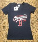 MLB Boston Red Sox Women's Navy 2018 American League Champions T Shirt on Ebay