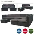 Outdoor Furniture Rattan Sofa Set Wicker Lounge Garden Patio Couch Setting Au