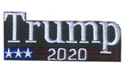 TRUMP 2020 RE-ELECT USA FLAG Hot melt Pre glued Iron on Embroidered Patch Lot