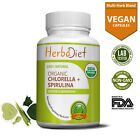Organic Spirulina Chlorella Cracked Cell Extract 500mg Capsules Green Superfood