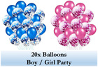 Confetti Balloons Pink / Blue Birthday Baby Shower Balloon Party Decoration