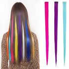 3pcs Women Multi Color Long Straight Synthetic Clip in on Hair Extensions Piece