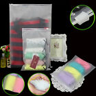 Various sizes Clear Frosted Plastic Packaging Zipper Bags Reclosable For Clothes