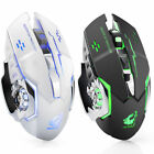 Rechargeable X8 Wireless Silent LED Backlit USB Optical Ergonomic Gaming Mouse E