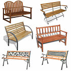 Modern Garden Bench Wooden Outdoor Patio Seating Park Furniture Chairs 2 Seater