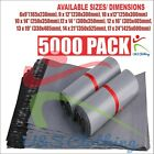 5000 x Poly Postal Bags Grey Plastic Mailing Strong Post Large Letters Parcels