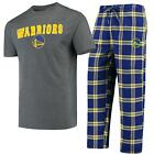 Golden State Warriors Pajamas Troupe Shirt And Pants Sleepwear 2-Piece Set on eBay