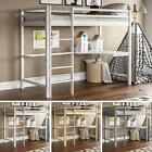 High Sleeper Bunk Bed Loft Cabin Bed Solid Pine Wood Frame Desk Kids Single 3FT