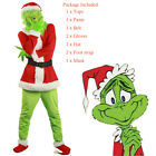 Adult Santa Grinch Cosplay Costume How the Grinch Stole Christmas Suit Outfits L