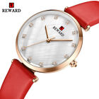 Women Fashion Watches Ladies Quartz Rhinestone Simple Leather Strap Dress Watch image