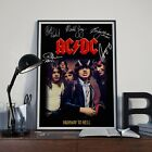 Acdc All Members Autographed Poster Wall Art Print. Great Memorabilia Home Decor