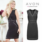 AVON Ladies Womens Black Bodycon Evening Party Work Dress Size 10 12 14 16 18 20