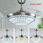 42'' Ceiling Fan Blade Crystal Chandelier Pendant Light Bedroom Dining Room !!!