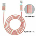 US Magnetic Braided USB Charger Charging Data Cable Cord Android Mobile Phone