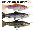 New Savage Gear 4D Line Thru TROUT PULSE TAIL  Ready Fishing Swimbait 16cm 20cm