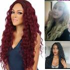 Women Long Wavy Curly Full Hair Wigs Black Brown Lady Synthetic Cosplay Wig US