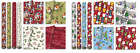 4 x 5m Christmas Wrapping Paper Present Wrap Santa Assorted Designs New