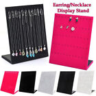 Velvet Jewellery Necklace Stand Chain Display Hanger Board Show Holder Organizer