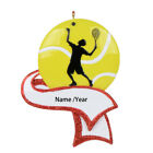 Men's Tennis Ball Personalized Ornament for Christmas Tree Decor, Player Athlete