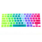 "Rainbow Silicone Keyboard Case Cover Skin Protector for iMac Macbook Pro 13""RES"