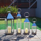 Chrome Metal Candle Holder Floor Lantern Hurricane Lanterns Stainles Steel Decor