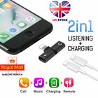 Adapter For iPhone 11 7 8 X XS XR Earphone Headphone Audio Charger UK Splitter