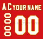 Atlanta Flames Customized Number Kit for 1972 1980 Red Jersey