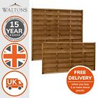 Wooden Garden Fence Fencing Panels Pressure Treated Horizontal Weave 4ft 5ft 11'