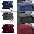 Electric Channeled Fleece Bed Warming Twin Full Queen King Size Heated Blanket image