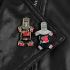 Cool Black Knight never-say-die Enamel Brooch Lapel Pins Gold Badge Flesh Wound image