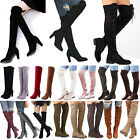 Womens Ladies Thigh High Boots Over The Knee Stretch Party Shoes Block Heels US