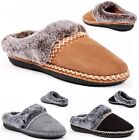 LADIES WOMENS SLIP ON MULES WARM COMFY HARD SOLE OUTDOOR MOCCASINS SLIPPERS SZ